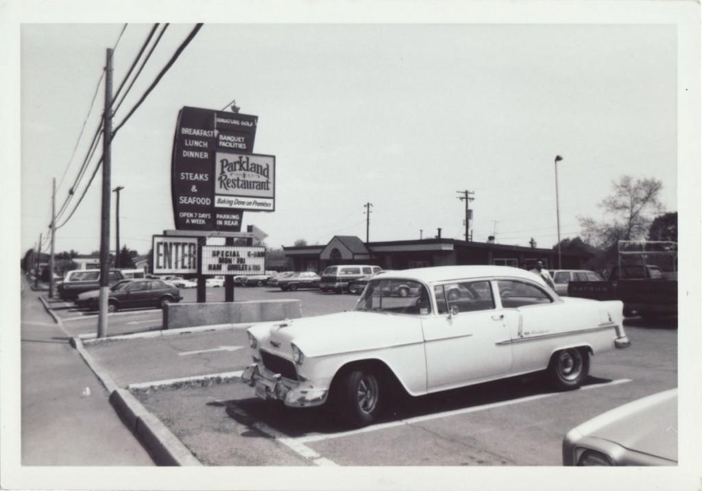 Parkland Restaurant Circa 1983